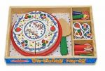 CHILDRENS CHILD MELISSA AND DOUG WOODEN BIRTHDAY CAKE PLAY FOOD